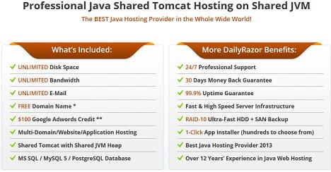Java Shared Hosting Plans