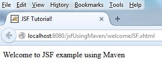 create JSF web application