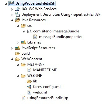 Image to show eclipse architecture how to load properties file in JSF