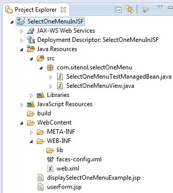 image <h:selectOneMenu> in JSF Eclipse Hierarchy