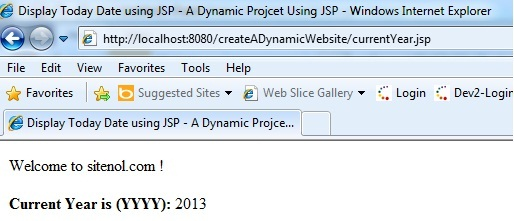 Running  jsp dynamic web application using eclipse ide and apache tomcat server