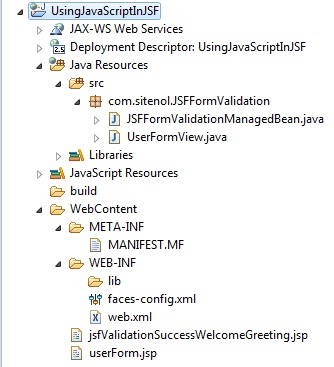 Java Script Validation In JSF