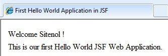 Beginners Example In JSF