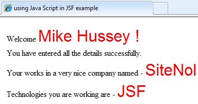 Validating JSF Form Page